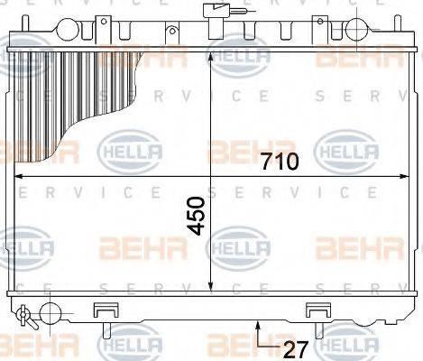 BEHR HELLA SERVICE 8MK376770781 Радиатор, охлаждение двигателя