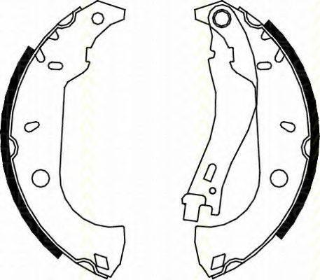 TRISCAN 810015483 Комплект тормозных колодок