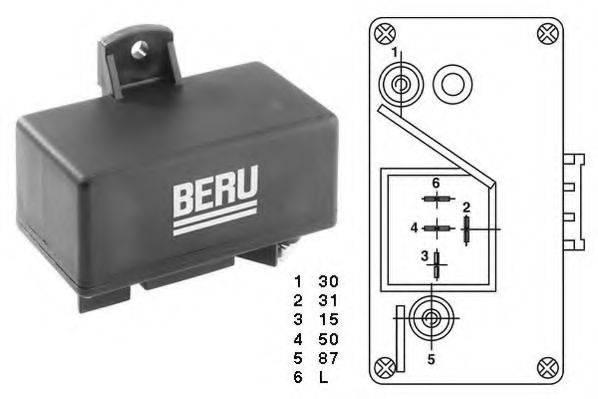 Блок управления, время накаливания BERU GR065