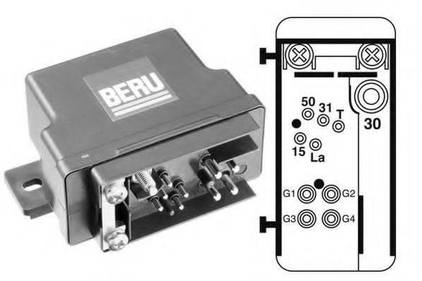 Блок управления, время накаливания BERU GR074