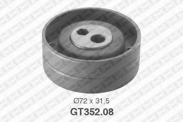 Натяжной ролик, ремень ГРМ SNR GT352.08
