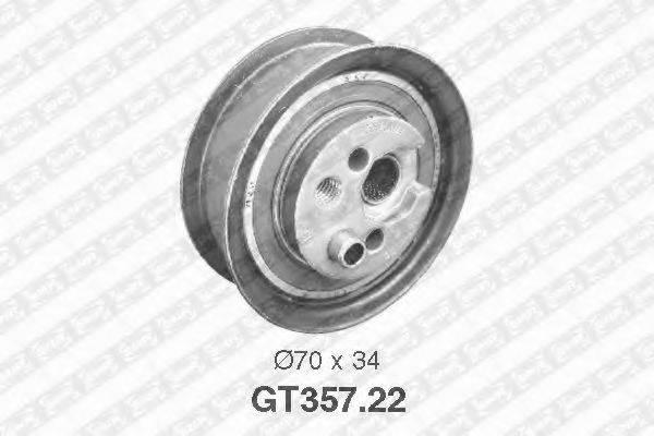 Натяжной ролик, ремень ГРМ SNR GT357.22
