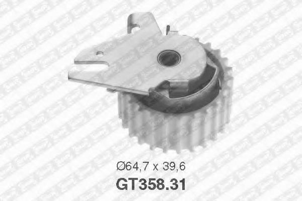 Натяжной ролик, ремень ГРМ SNR GT358.31