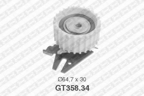 Натяжной ролик, ремень ГРМ SNR GT358.34