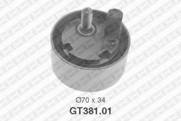 Натяжной ролик, ремень ГРМ SNR GT381.01