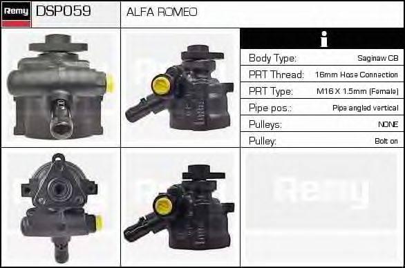 DELCO REMY DSP059 Гидравлический насос, рулевое управление