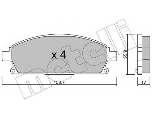 METELLI 2204060 Комплект тормозных колодок, дисковый тормоз