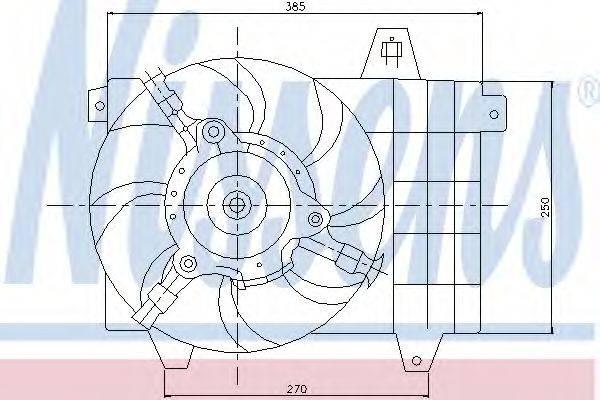 NISSENS 85072 Вентилятор, охлаждение двигателя