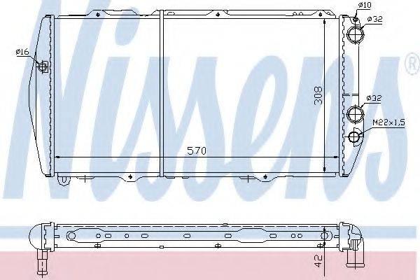 Радиатор, охлаждение двигателя NISSENS 604551