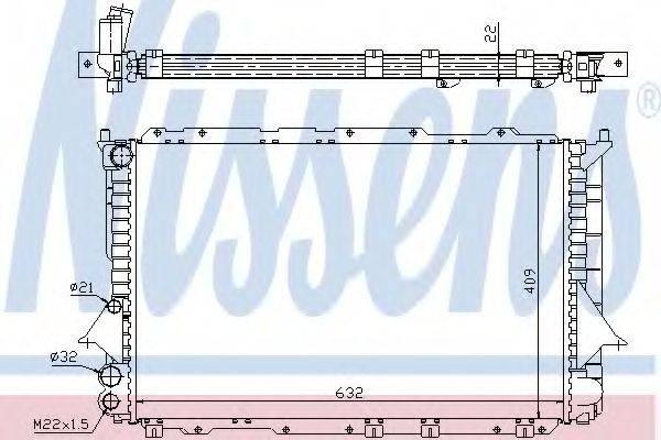Радиатор, охлаждение двигателя NISSENS 60460
