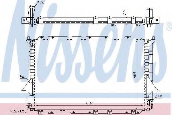 Радиатор, охлаждение двигателя NISSENS 60458