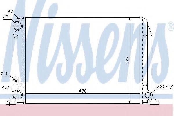 Радиатор, охлаждение двигателя NISSENS 604611