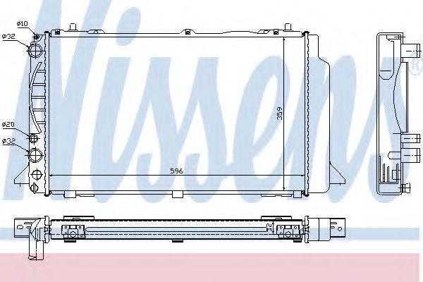 Радиатор, охлаждение двигателя NISSENS 60465A