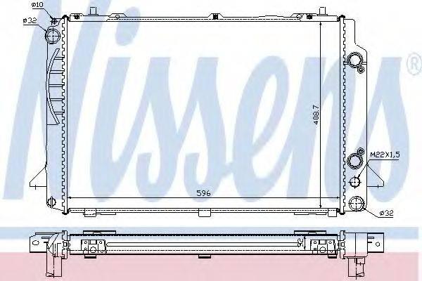 Радиатор, охлаждение двигателя NISSENS 60467A
