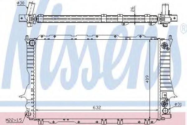Радиатор, охлаждение двигателя NISSENS 60476