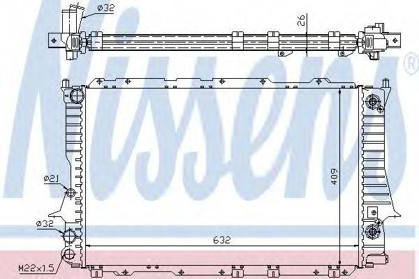Радиатор, охлаждение двигателя NISSENS 60477