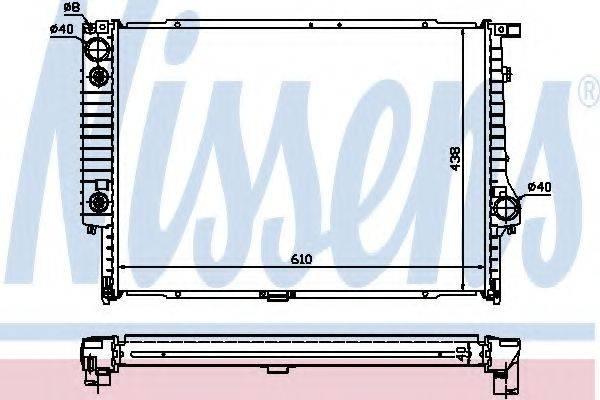 Радиатор, охлаждение двигателя NISSENS 60597A