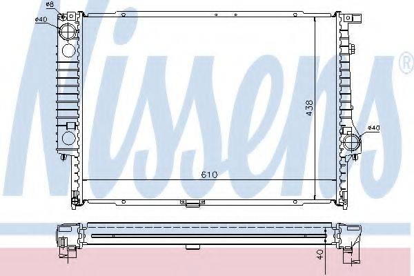 Радиатор, охлаждение двигателя NISSENS 60596A