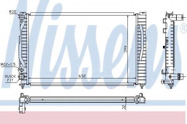 Радиатор, охлаждение двигателя NISSENS 60491