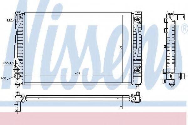 Радиатор, охлаждение двигателя NISSENS 60494
