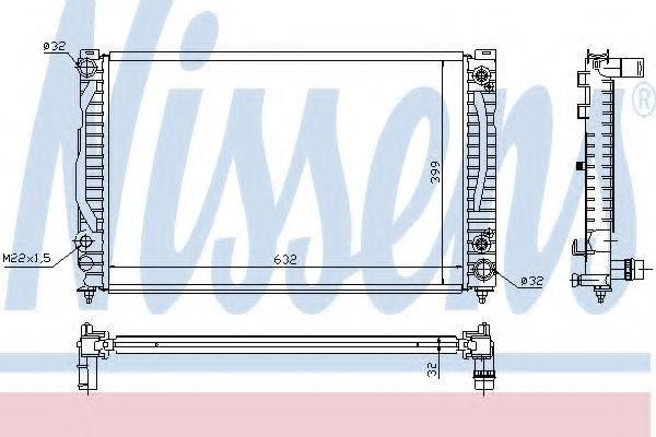 Радиатор, охлаждение двигателя NISSENS 60495A