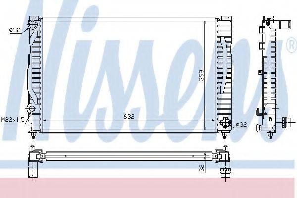 Радиатор, охлаждение двигателя NISSENS 60496