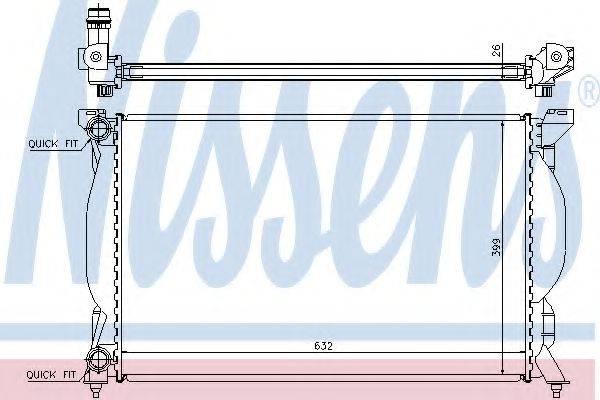 Радиатор, охлаждение двигателя NISSENS 60304A