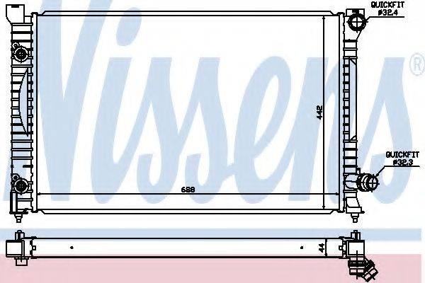 Радиатор, охлаждение двигателя NISSENS 60424