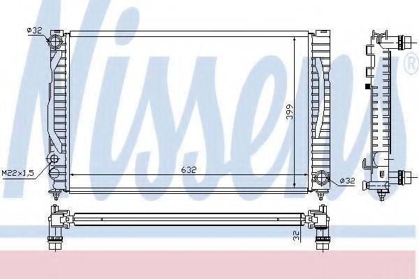Радиатор, охлаждение двигателя NISSENS 60497