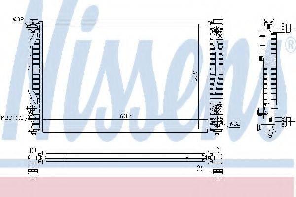 Радиатор, охлаждение двигателя NISSENS 60498