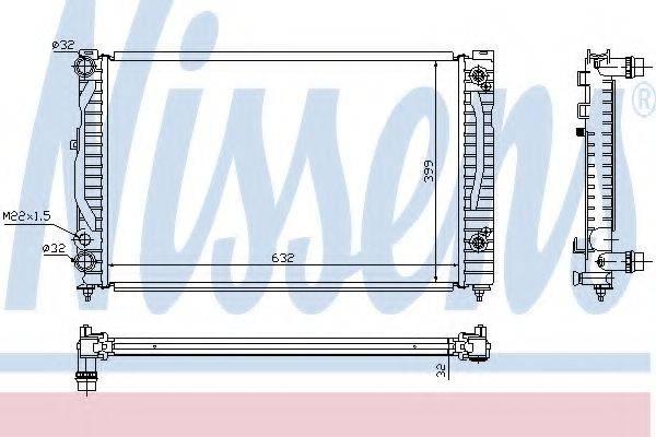 Радиатор, охлаждение двигателя NISSENS 60499