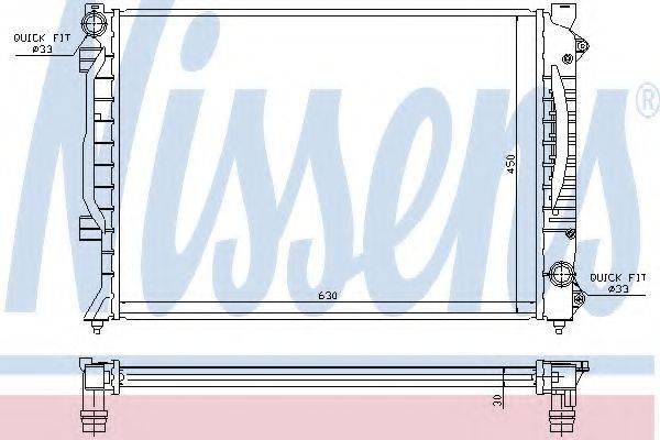 Радиатор, охлаждение двигателя NISSENS 60422A