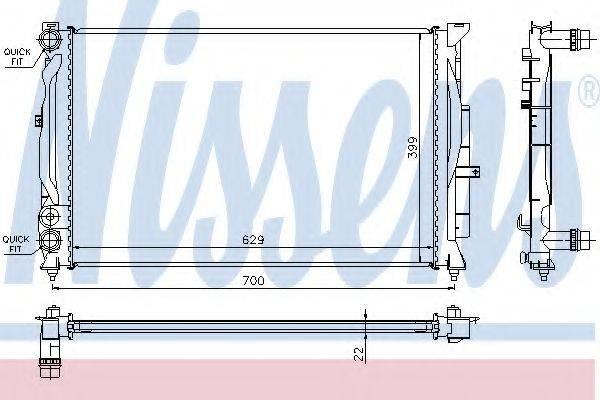 Радиатор, охлаждение двигателя NISSENS 60308A