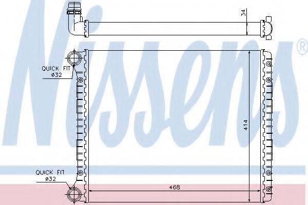 Радиатор, охлаждение двигателя NISSENS 60426