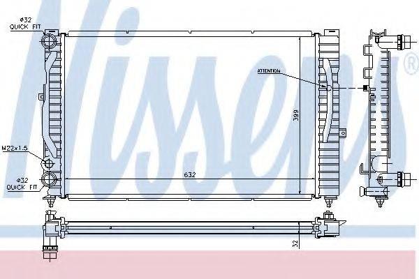 Радиатор, охлаждение двигателя NISSENS 60299
