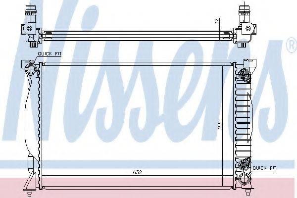 Радиатор, охлаждение двигателя NISSENS 60300A
