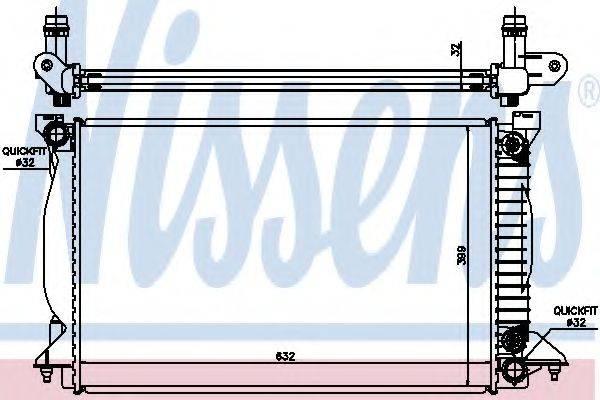 Радиатор, охлаждение двигателя NISSENS 60303A