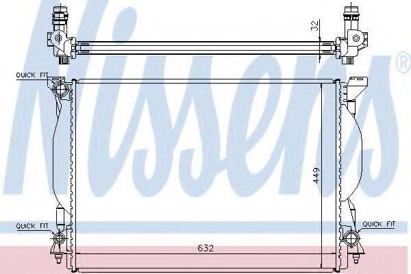 Радиатор, охлаждение двигателя NISSENS 60306A