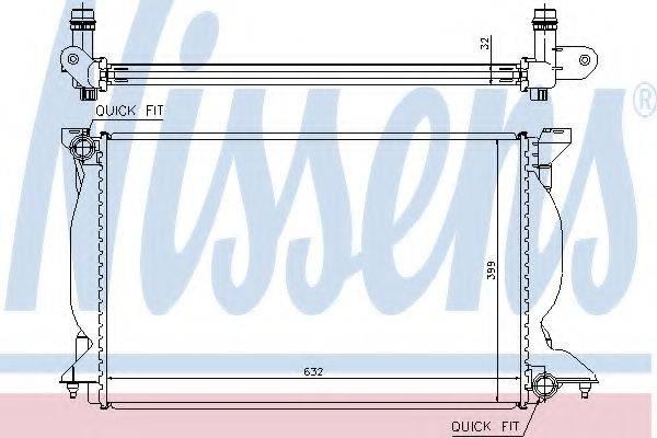 Радиатор, охлаждение двигателя NISSENS 60302A