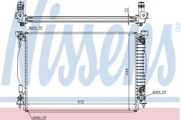 Радиатор, охлаждение двигателя NISSENS 60307A