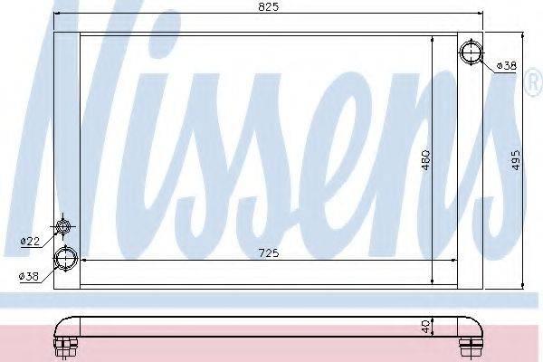 Радиатор, охлаждение двигателя NISSENS 60428