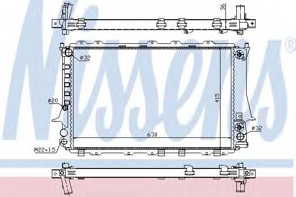 Радиатор, охлаждение двигателя NISSENS 60480