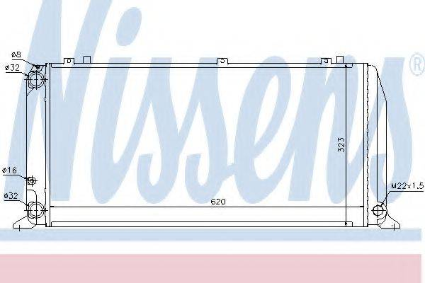 Радиатор, охлаждение двигателя NISSENS 60488