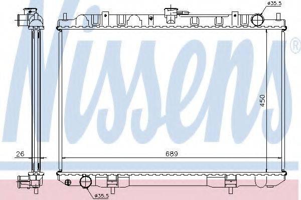 NISSENS 68703A Радиатор, охлаждение двигателя