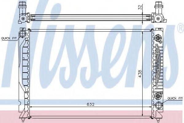 Радиатор, охлаждение двигателя NISSENS 60316