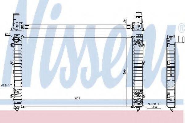 Радиатор, охлаждение двигателя NISSENS 60493A