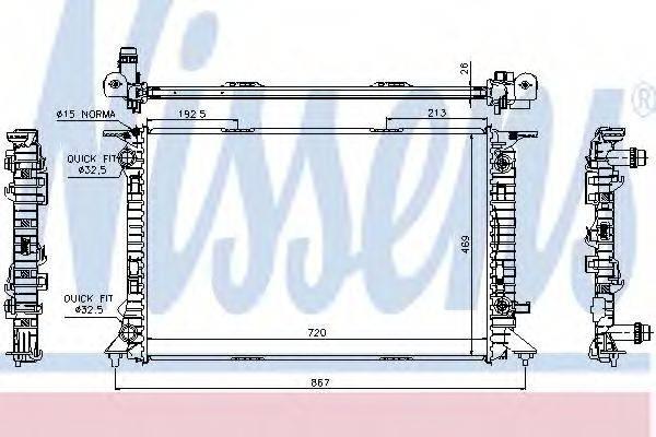 Радиатор, охлаждение двигателя NISSENS 60321