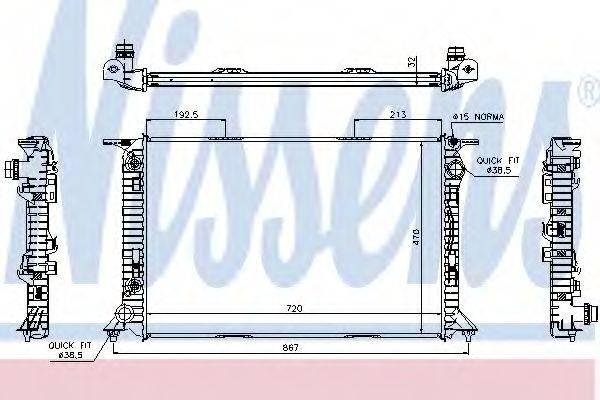 Радиатор, охлаждение двигателя NISSENS 60322