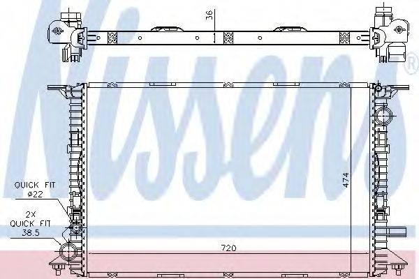 Радиатор, охлаждение двигателя NISSENS 60356