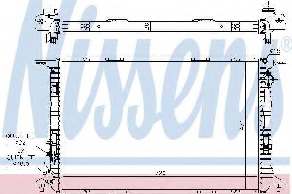 Радиатор, охлаждение двигателя NISSENS 60359
